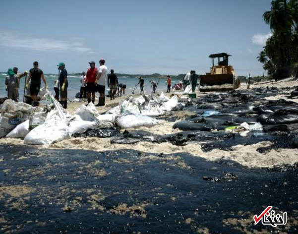 تصاویر پسری در ساحل مملو از آلودگی نفتی برزیل پر بازدید شد