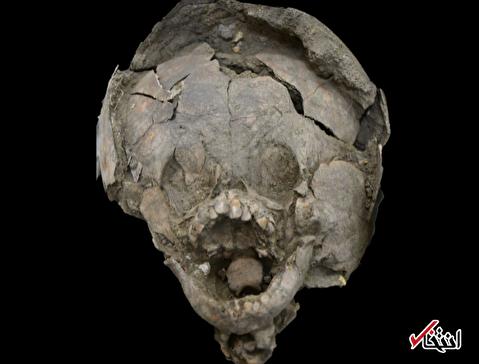 کشف بقایای نوزادانی 2 هزار ساله با کلاه ایمنی!