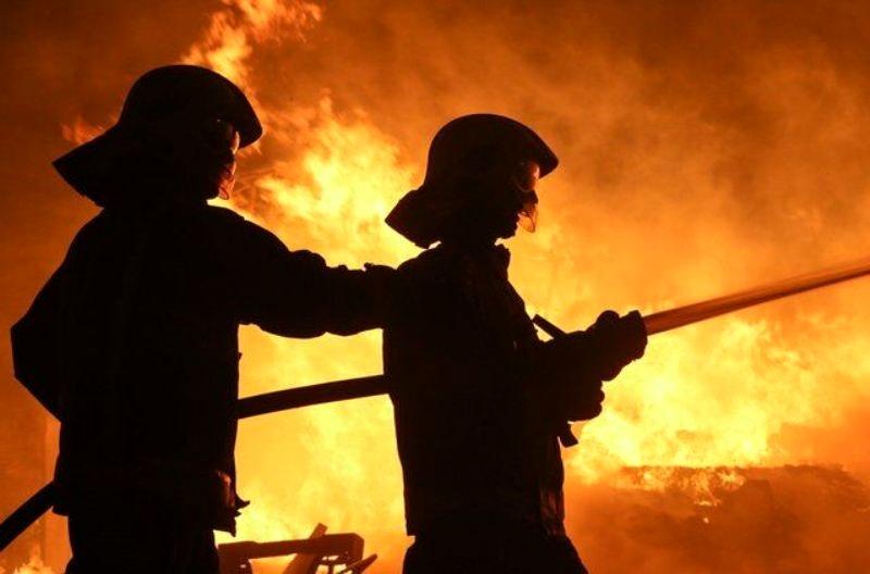 آتشسوزی در یک محله فقیرنشین در آفریقای جنوبی