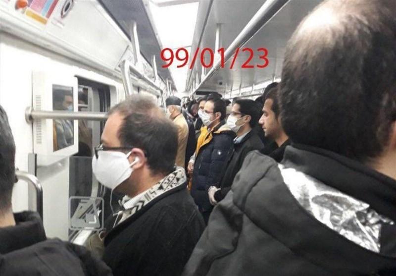 وضعیت وخیم امروز متروی تهران در فاصلهگذاری هوشمند + عکس
