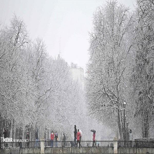 تصاویر: برف و سرمای کم سابقه در اسپانیا