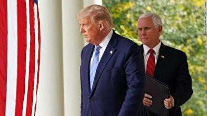چراغ سبز مایک پنس برای برکناری دونالد ترامپ