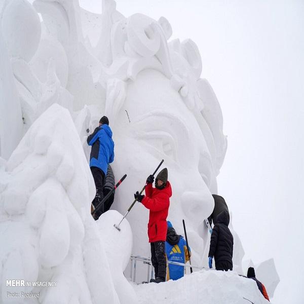 تصاویر: آغاز ساخت شهر یخی در چین