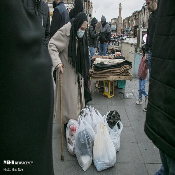 تصاویر: حال و هوای بازار تبریز در وضعیت زرد کرونایی