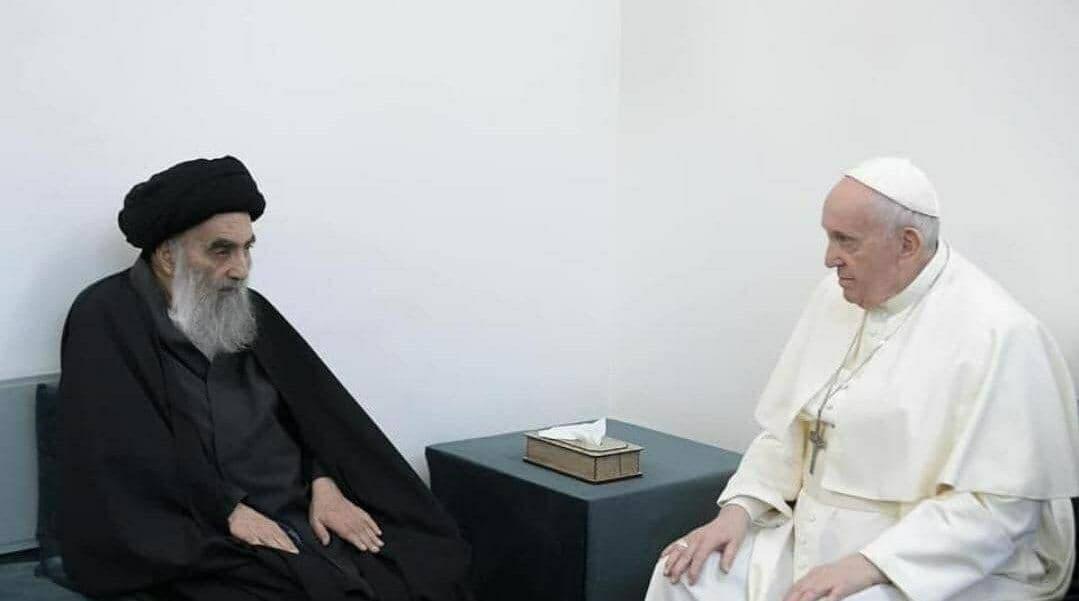 پاپ فرانسیس با آیت الله سیستانی ملاقات کرد