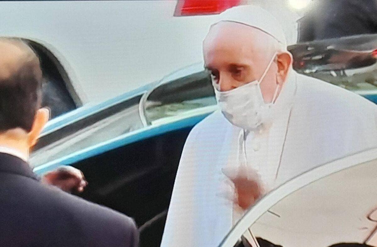 پاپ فرانسیس با آیت الله سیستانی ملاقات کرد +ویدیو