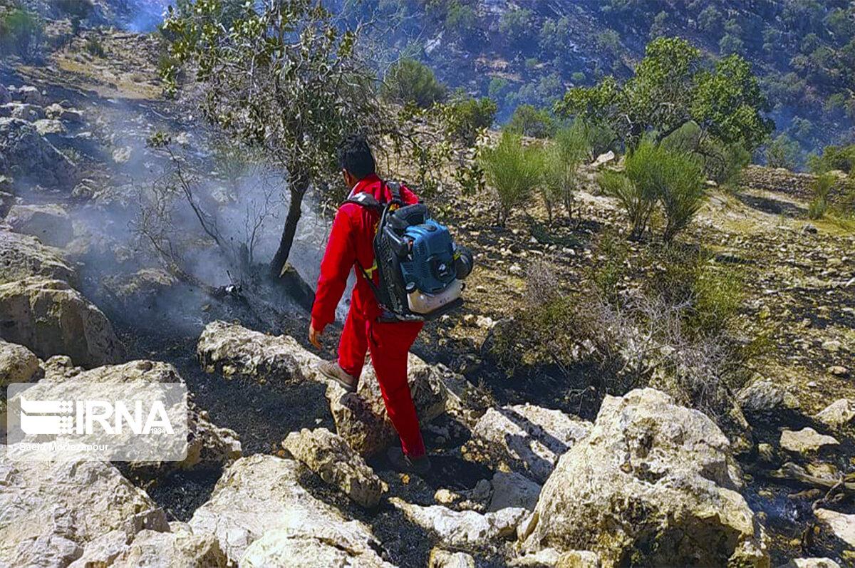 تصاویر: آتش سوزی کوه خاییز