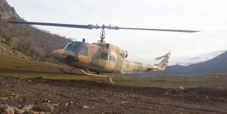 ۱۰۸ سورتی پرواز برای مهار آتش سوزی جنگلهای خاییز و دیل / حضور بالگردهای ارتش تا مهار کامل آتش