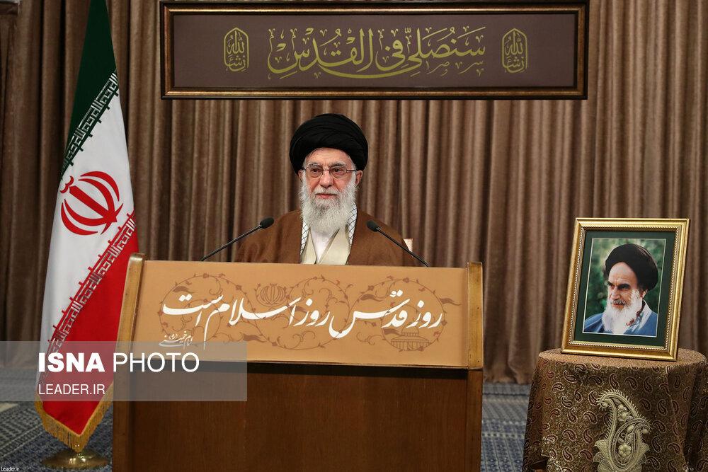 تصاویر: سخنرانی تلویزیونی مقام معظم رهبری به مناسبت روز قدس