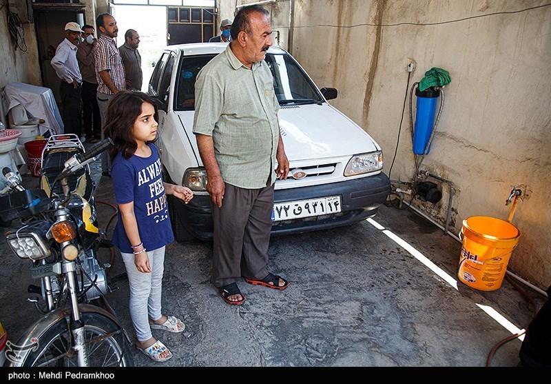 تصاویر: بی آبی در خیابان کارون اهواز