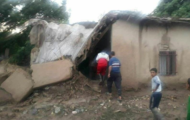 خسارت سیلاب به منازل مسکونی روستایی در شرق گلستان + تصاویر