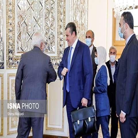 تصاویر: دیدار رییس کمیته روابط خارجی دوما روسیه با محمد جواد ظریف
