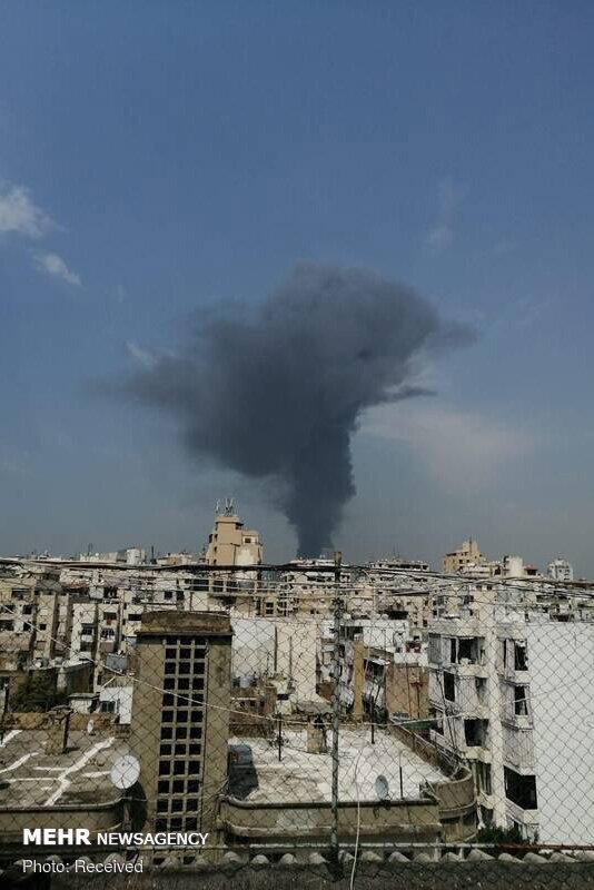تصاویر: آتشسوزی گسترده در بندر بیروت