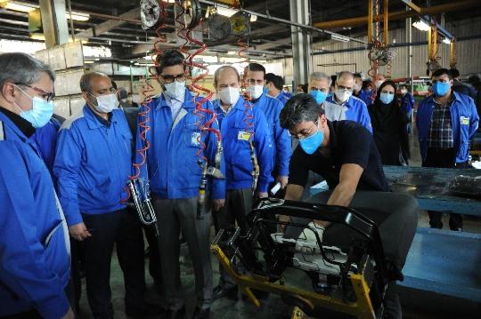 بازدید مدیرعامل گروه صنعتی ایران (IRAN) خودرو از مهرکام پارس/ تاکید مقیمی بر سرعت فرآیند تجدید ارزیابی داراییهای نماد «خمهر»