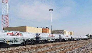 نخستین محموله صادراتی ایران از راه آهن هرات - خواف به افغانستان رسید