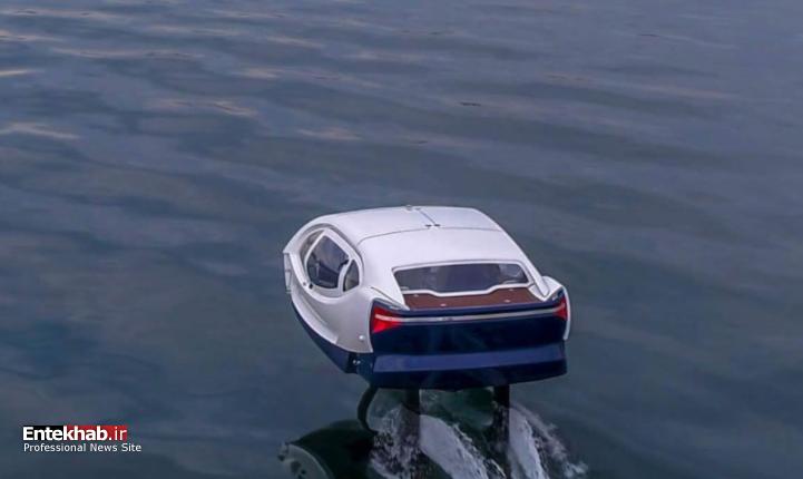 خودرویی که روی آب حرکت میکند