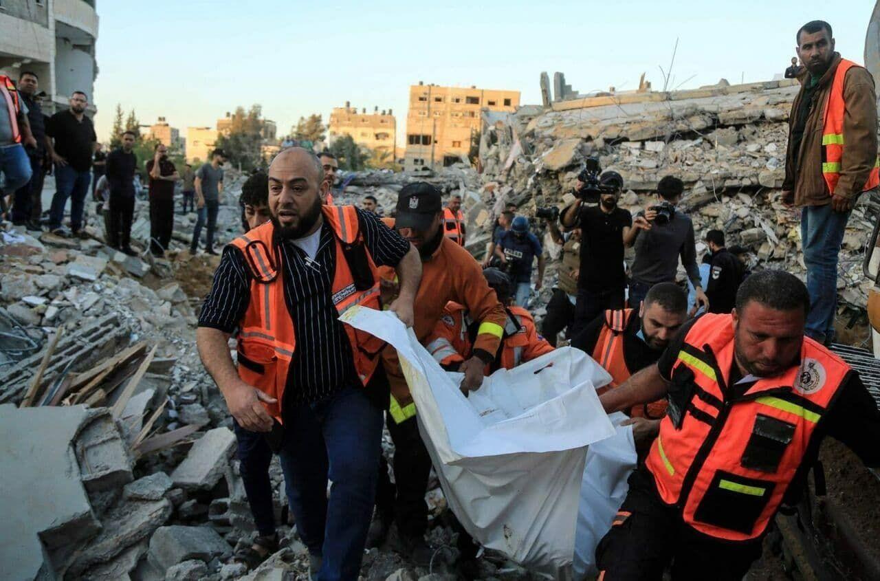 شمار شهدای فلسطین به ۲۱۲ نفر افزایش یافت