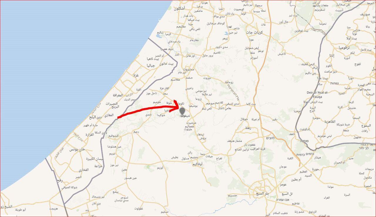 شهرک نتیفوت موشکباران شد / تایمز آو اسرائیل:  یکی از موشک ها مقابل مرکز تجاری این شهرک اصابت کرده