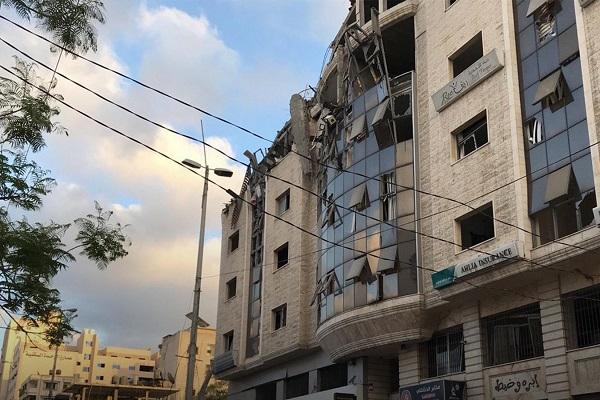 حمله هوایی اسرائیل به ساختمان هلال احمر قطر در غزه
