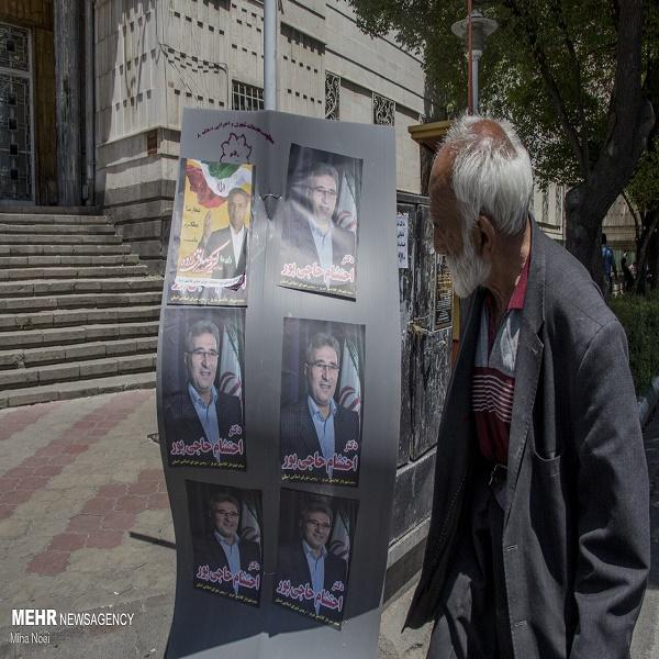 تصاویر: آغاز تبلیغات محیطی انتخابات ریاست جمهوری و شورای شهر در تبریز