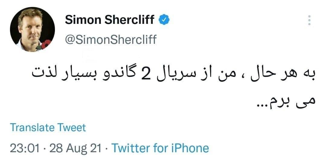 سفیر انگلیس در تهران: از سریال گاندو ۲ بسیار لذت میبرم